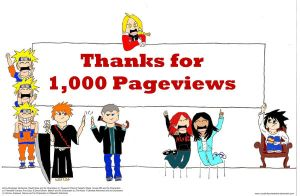 Thanks for 1,000 Pageviews by VicodinFlavoredMints