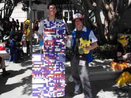 Ash and MissingNo. Cosplay by SuperSonicHero10