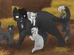 Ravenpaw and the kits by CascadingSerenity