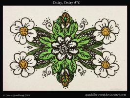 Daisy, Daisy ATC 40 by Quaddles-Roost