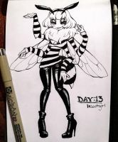 Inktober Day: 13 - Insect Girl by rap1993