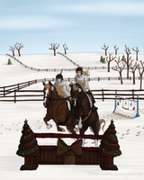 Christmas Pairs Jumping by Tattered-Dreams