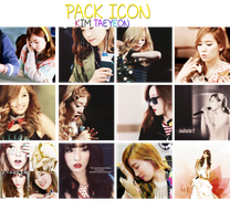 PACK ICON HPBD TAEYEON by FishBubi