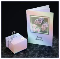 Floral Rainbow Box and Card by Sarahorsomeone