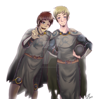 Frelick and Lance Commission by Neko-Onigiri