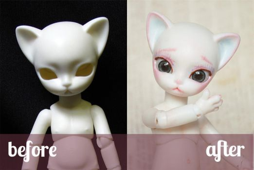 Hujoo Nano Freya Before and After by ShadowedPorcelain
