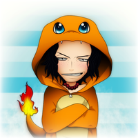 Portgas D. Ace - Charmander by SoulEevee99