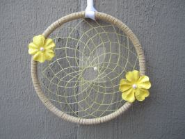Large Yellow Flower Dream Catcher by Craft-Me-A-Dream