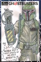 Ghostbusters sketchcover Commission Boba Fett by Frisbeegod