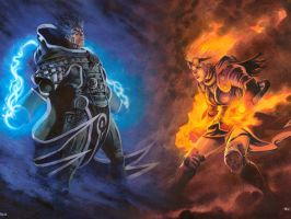 jace vs chandra by Serchito