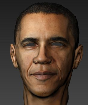 unfinished Obama Textured Mudbox 3d model sculpt by dczanik