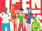 Teen Titans as Scooby Gang by ColdHeartedCupid