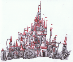 The Red Castle WIP by ConkerTSquirrel