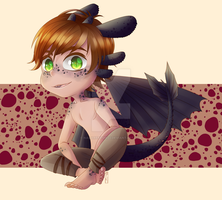 COMMISSION: Dragon Hiccup by Nagareboshi22