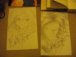 My drawings that got me a kiss and a hug!! by l3lue-Kat