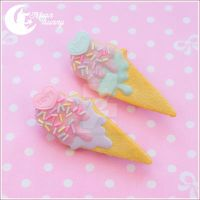 Ice-cream cookie brooch by CuteMoonbunny