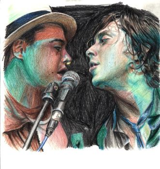 Libertines.pencil.colour by Bitterkawaii