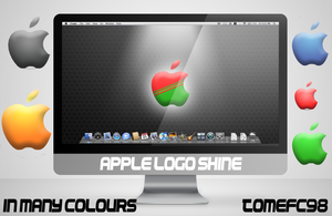 Apple Logo 'Shine' Wallpaper by TomEFC98