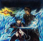 .: Rin and Yukio :. by Dreamgirl2007