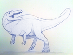 Suchomimus Sketch by beastisign