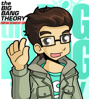 Big Bang Theory Leonard by desfunk