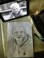 My son drawn i pencil with referance pic. by Jylm75