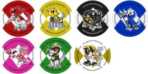 Mighty Morphin' Power Rangers Mascot Badges by RedPawDesigns