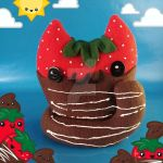 Chocolate-Dipped Clawberry Cat Food Plush by Elfedward