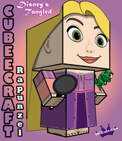 Tangled Rapunzel 3D cubeecraft by SKGaleana