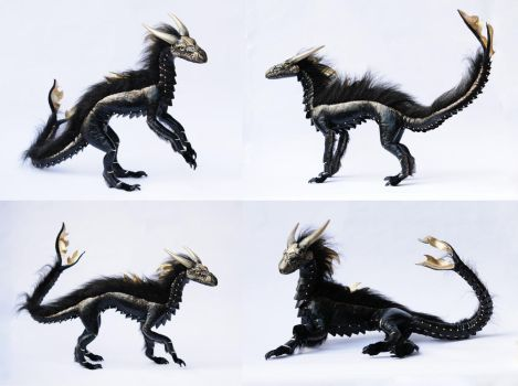 OOAK, Poseable Art Doll, Dragon, Aaron by FellKunst