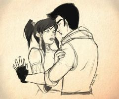 Korra and Mako by Nikori88