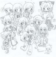 a group of chibis.. by suga-ovadose