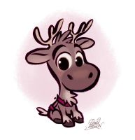 Baby Sven from Disney's Frozen by princekido