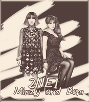 2NE1-Minzy and Park Bom by Steffito