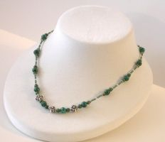 Chrysocolla + Jade Necklace by Vamppy