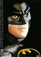 Keaton's Batman - Sketch Card by KOSARTeffects