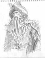 Davy Jones Sketch 1 by Swashbookler