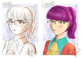 [Sketch to Color] Headshot Practice by sitidini