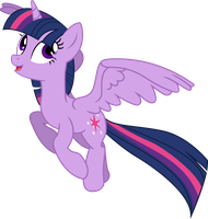Princess Twilight in Flight by TheShadowStone