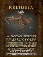 Reliquary show poster by MrSoles