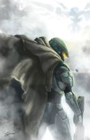 Master Chief Halo fan art! by fujimotion