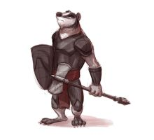 Armored Badger by Temiree
