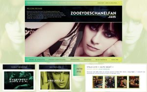 ZooeyDeschanelfan.com - Wordpress theme by everybodyhurtsdesign