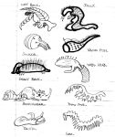 Alien Concept Sketches. by TheArchosaurQueen