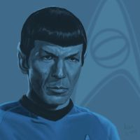 Star Trek TOS portrait series 02a - Spock - Nimoy by jadamfox