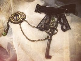 double brooch victorian-steam' by Verope