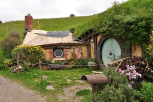a hobbit hole in NZ by iRISSIEL