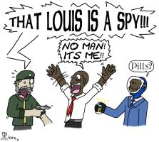 :THAT LOUIS IS A SPY: by SpizFeral