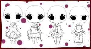 More Mini Outfit Adopts - (Closed) by Jhalysz