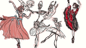 Ballet poses study by SpiralStaircasesEatU